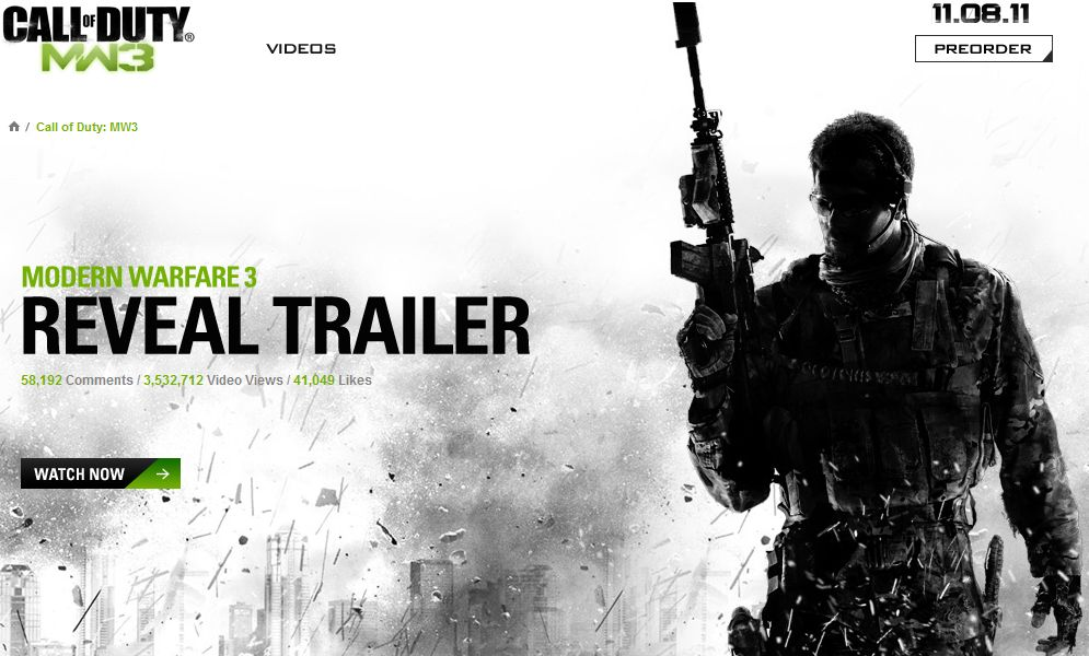 Call Of Duty: Modern Warfare 3 Official Trailer Released