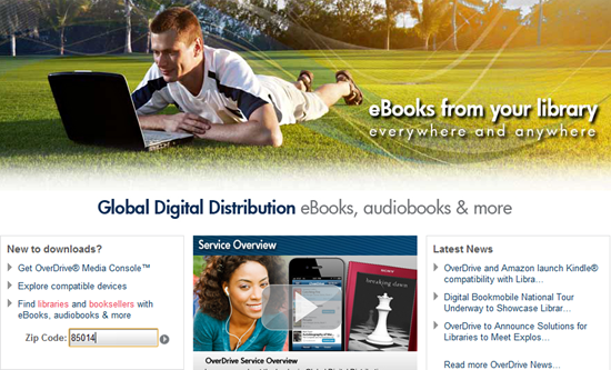 Borrow eBooks for your Kindle Fire from Local Library