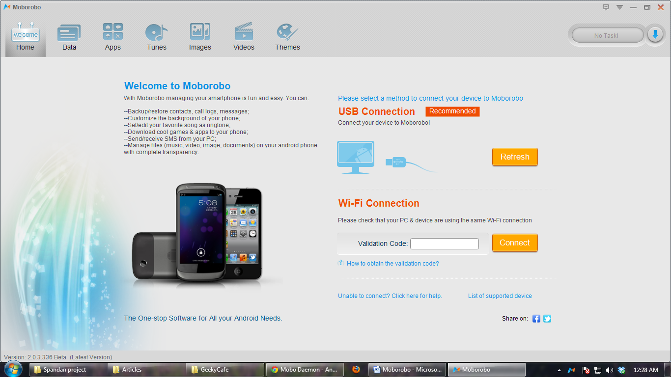 Moborobo-All in one management tool for Android smartphones