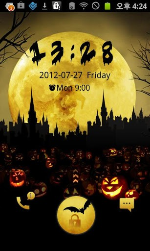 Halloween Moon Night GO Locker theme-Best Go Locker themes