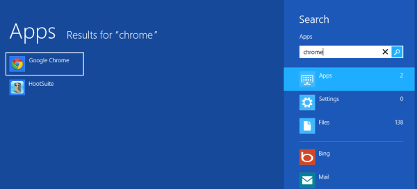 about windows 8 search apps