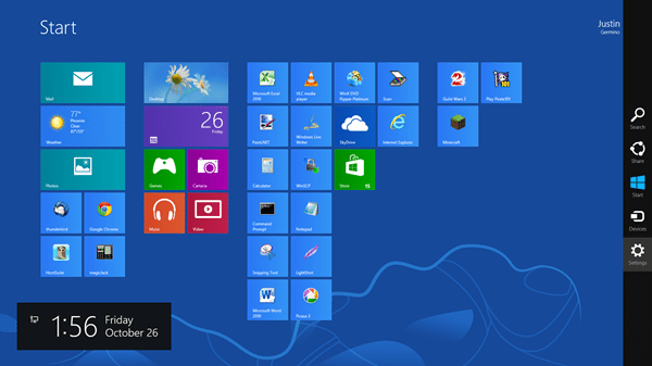 about windows 8 start screen