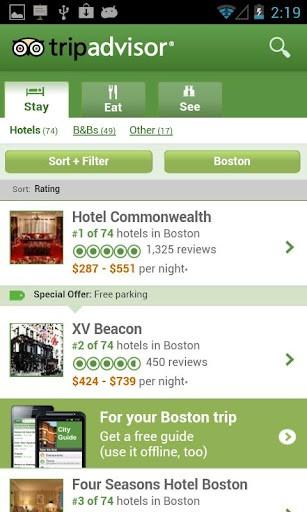 TripAdvisor-Android Hotel Apps
