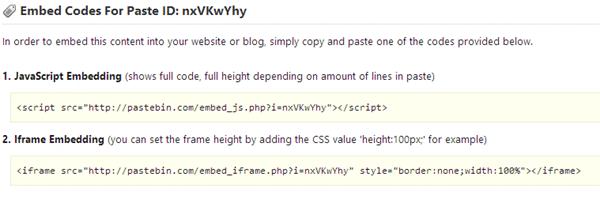 Share Script Code using Pastebin - Dragon Blogger Technology