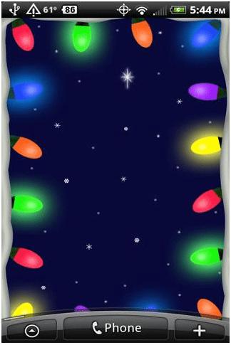 Christmas Lights Live Wallpaper