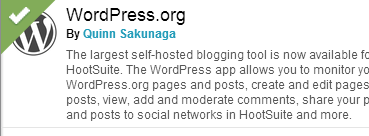 Hootsuite Can Publish to Your Wordpress Blog - Dragon