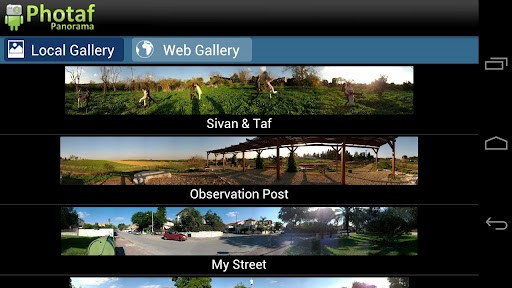 Photaf Panorama - Android Apps