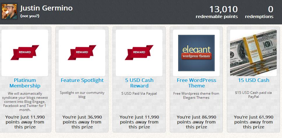blog engage rewards prizes