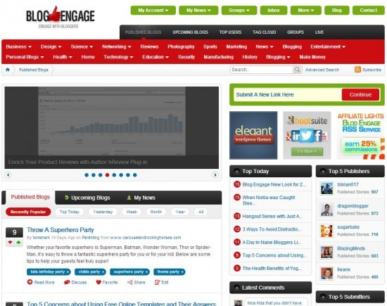 all new blog engage theme