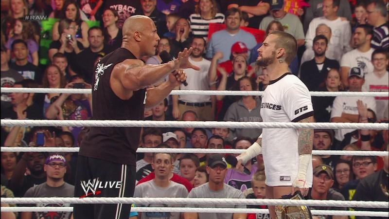 WWE RAW Rock CM Punk