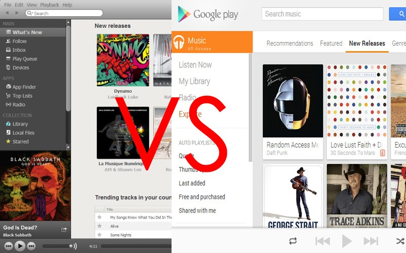 Spotify vs Google Play