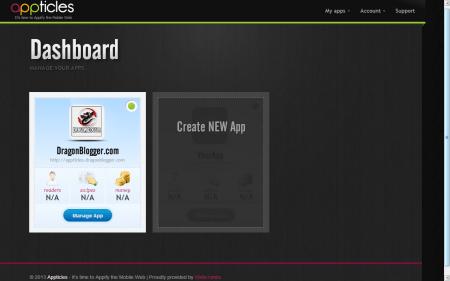 Appticles Dashboard 1