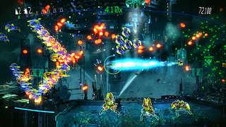 Resogun, one of the best looking indie games on the PlayStation 4. Really shows the power of the PS4.