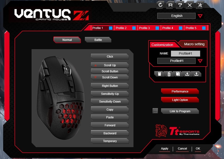 Tt eSPORTS Ventus Z 11000DPI Gaming Mouse Review - Dragon
