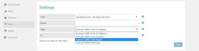 wordpress-google-analytics-filter-option