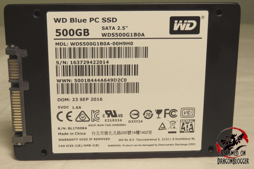 Western Digital S Wd Blue 500gb Wds500g1b0a Ssd Review Dragon