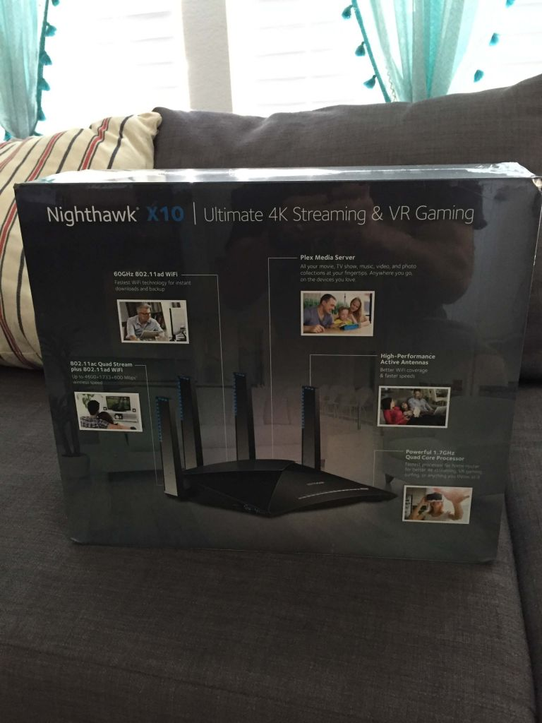Netgear Nighthawk X10 R9000 AD7200 Gaming Router Review - Dragon