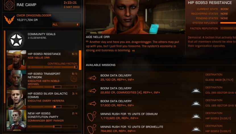 Where to Find Pristine Metallic Rings to Mine in Elite