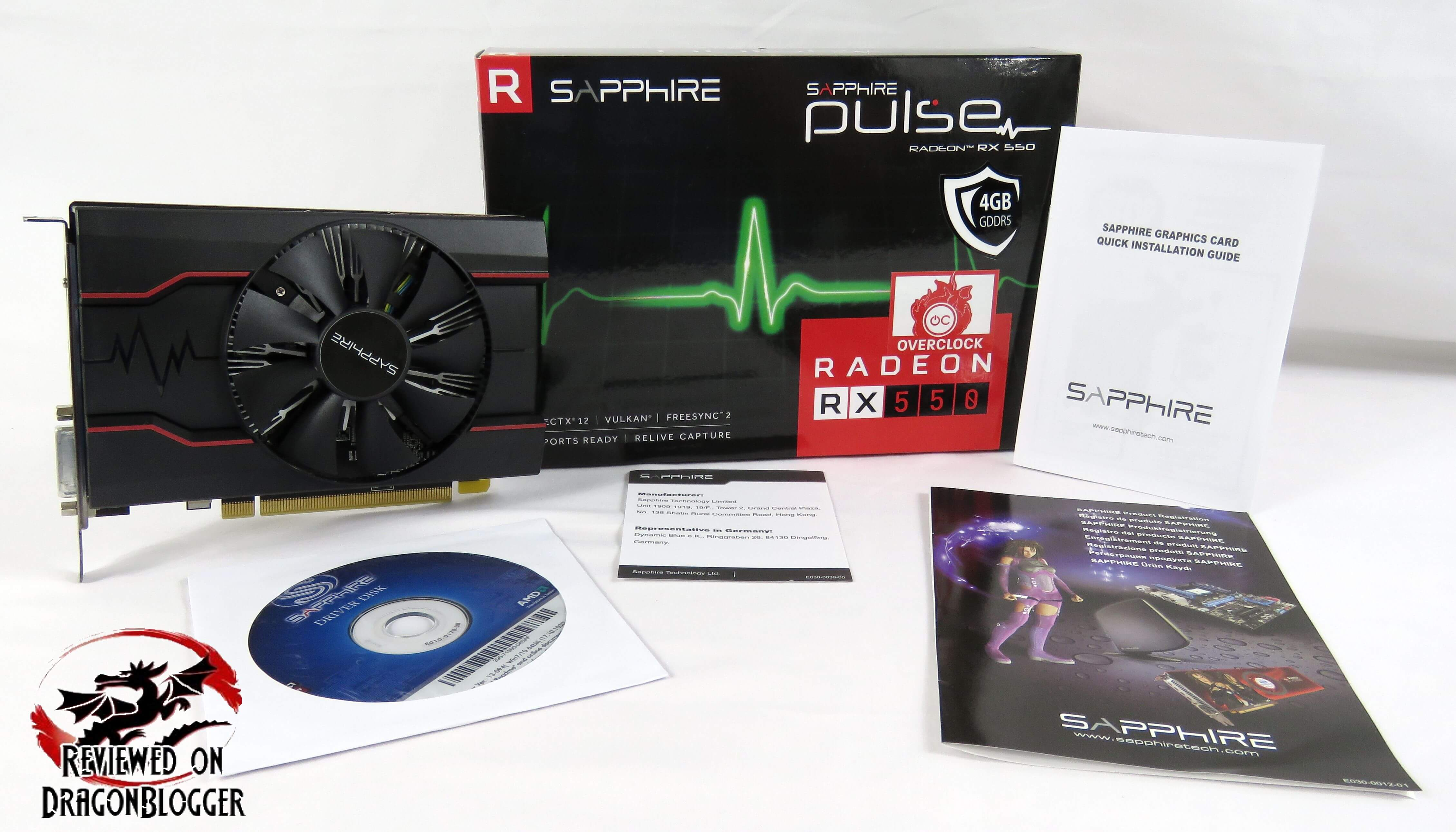 Sapphire Radeon PULSE RX550 4GB 11268-01-20G Video Card Review