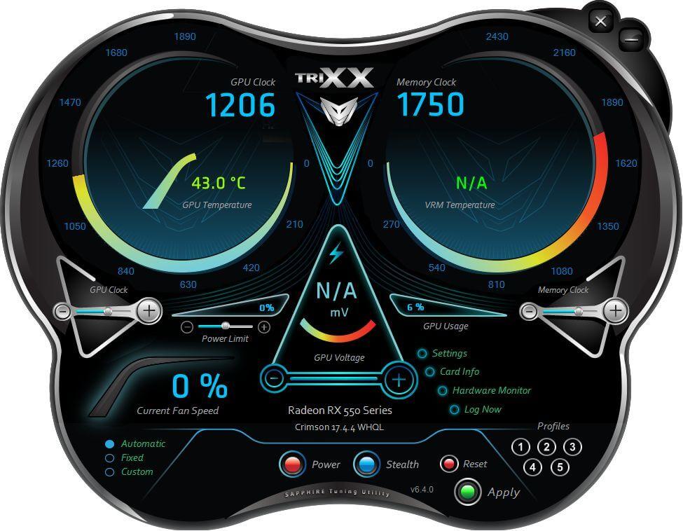 Sapphire Radeon PULSE RX550 4GB 11268-01-20G Video Card