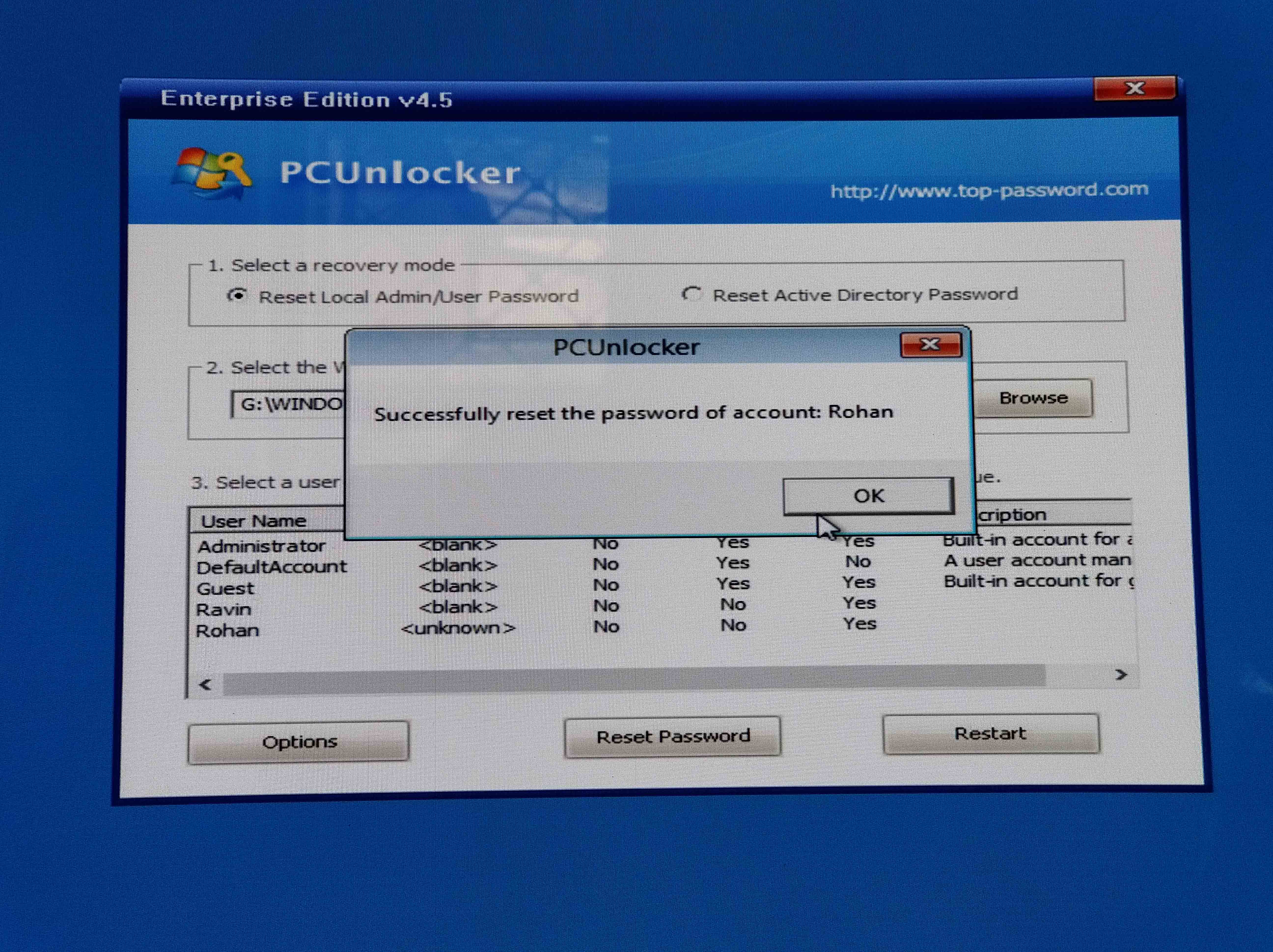 How to use pcunlocker enterprise | PCUnlocker WinPE 3 8 0