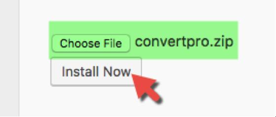 Install ConvertPro Step 3