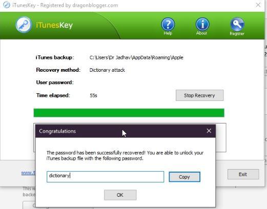 itunes backup password recovery reddit