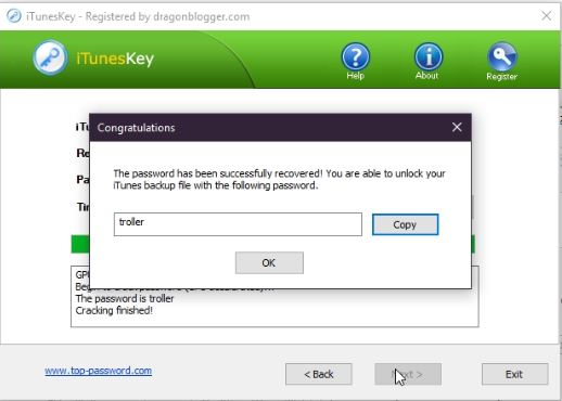 iTunesKey Review : Recover your lost iTunes backup password