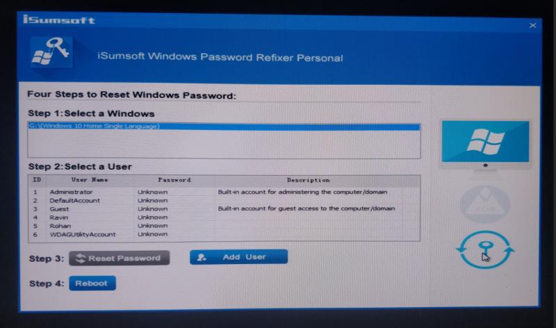 Reset Forgotten Windows Password: iSumsoft Windows Password Refixer Review  - Dragon Blogger Technology