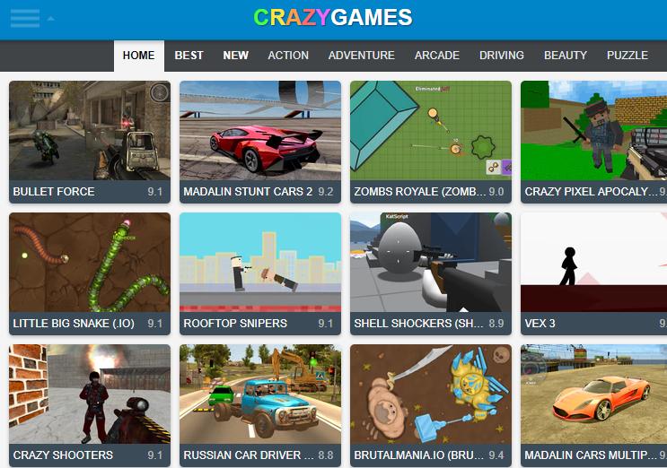 crazy game bullet force