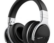 Mighty Rock E7C Bluetooth Headphones Over Ear Wireless Headphones with Microphones Hi-Fi Deep Bass Wireless Headset 30H Playtime Wired and Wireless Bluetooth Headphones for Cell Phones/PC/TV (Black)