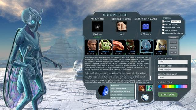 Interstellar Space: Genesis – New Game Setup