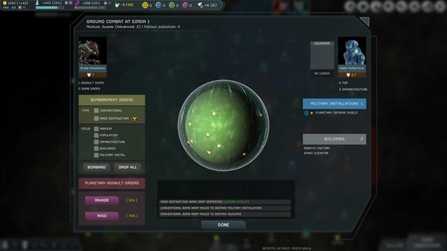 Interstellar Space: Genesis –Ground Combat